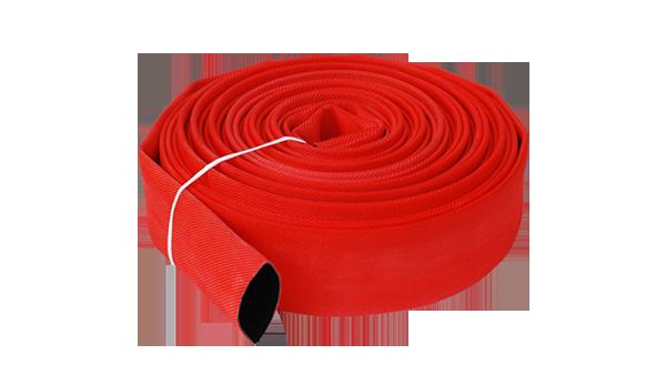 ¿Cuál es la estructura básica de las cinco partes de la manguera contra incendios?
